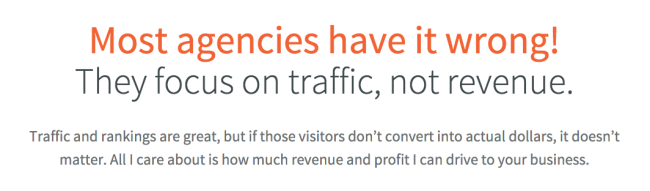Most agencies have it wrong They focus on traffic not revenue